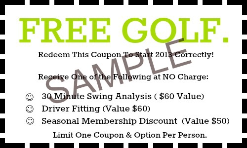 Free Golf Coupon Sample