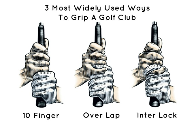 Golf Grip 3 types