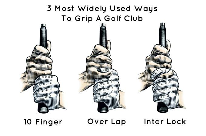 Golf Grip 3 types